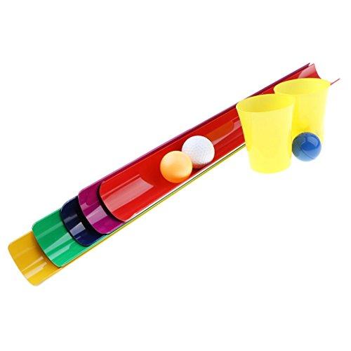 Baosity 6サイズ選ぶ ボール パイプ リレーレースゲーム アクションゲーム スポーツゲーム 子ども 屋外おもちゃ - 5.5 x 50 cm