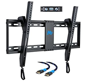 Mounting Dream MD2268-LK TV Wall Mount Tilting Bracket for Most 42-70 Inch LED, LCD and Plasma TVs up to VESA 600 x 400mm and 132 LBS Loading Capacity, 6 FT HDMI Cable and Torpedo Level