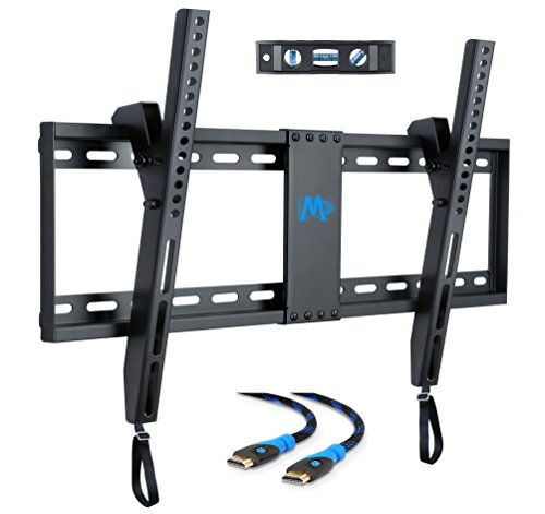 Mounting Dream MD2268-LK TV Wall Mount Tilting Bracket for Most 42-70 Inch LED, LCD and Plasma TVs up to VESA 600 x 400mm and 132 LBS Loading Capacity, 6 FT HDMI Cable and Torpedo Level (European Tv)