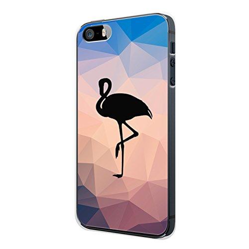 FLAMINGO SCHWARZ iPhone 5 / 5S Hülle Cover Case Schale Liebe Love Design Design