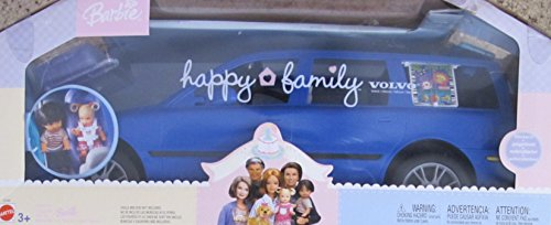 BARBIE Happy Family VOLVO V70 Vehicle VAN SUV w 2 CAR SEATS, HATCH BACK (Opens/Closes) & More! (2002 DARK BLUE (Blue Suv)