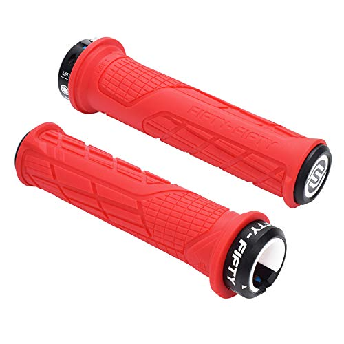 FIFTY-FIFTY Single Lock-on Mountain Bike Grips(Red)