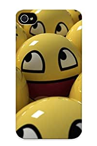 Iphone 4/4s Hard Back With Bumper Silicone Gel Tpu Case Cover For Lover's Gift Emoticons