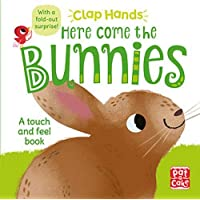 Clap Hands: Here Come the Bunnies: A touch-and-feel board book with a fold-out surprise