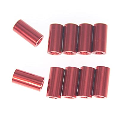 HobbyPark Aluminum M3x10mm Standoff Spacer Female-Female for RC Quadcopter / FPV Drone (Set of 10)