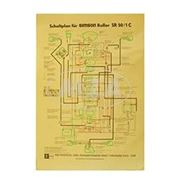 Wiring Diagram Colour Poster (40x60 cm) SR50/1 °C 12 V ... on