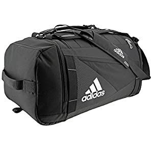 adidas Unisex Utility Lacrosse Backpack Duffel, Black/Silver, One Size