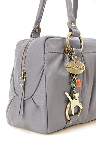 main Catwalk cuir Sac Gris Collection signé Megan en à 5q11nYH