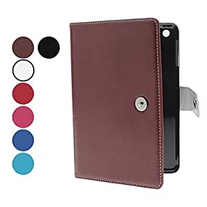 get Litchi Pattern PU Leather Full Body Case with Card Slot for iPad mini (Optional Colors) , Brown
