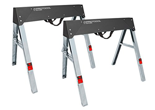 PROTOCOL Equipment SH-034 Steel Sawhorse, Set of 2 (Sawhorse Steel Folding)