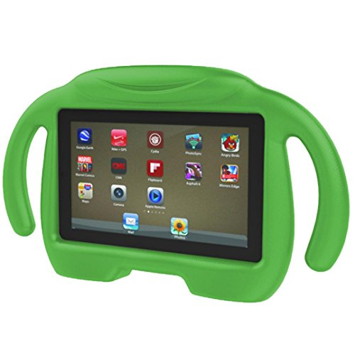 Review Dreamyth Kids Shockproof EVA Handle Stand Case Cover For Amazon Kindle Fire HD 7 2015