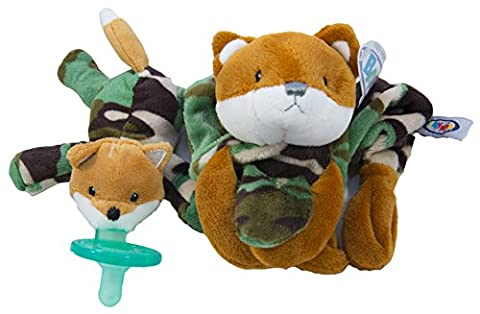 """Camo Fox 2-Piece Baby Set: Mary Meyer Camo Fox Plush Lovey & Matching Wubbanub 6"""" Pacifier Set-for Home, Travel, and Playtime-Perfect Idea: Baby Gift for Army Families & Baby Showers -Machine (Mary Meyer Wubbanubs)"""