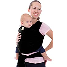 Baby Wrap Carrier by KeaBabies - All-in-1 Stretchy Baby Wraps - Baby Sling - Infant Carrier - Hands-Free Babies Carrier Wraps | Great Baby Shower (Trendy Black)