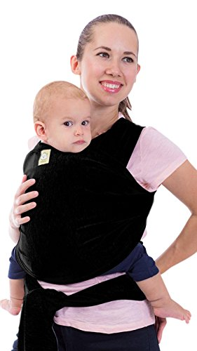 l-in-1 Stretchy Ergo Baby Wraps - Ergonomic Baby Sling - Infant Carrier - Babys Wrap - Hands Free Babies Carrier Wraps - Best Baby Shower Gift - One Size Fits All (Trendy Black) ()