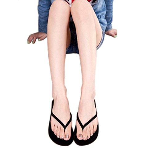 Cooljun Frauen Sommer Flip Flops Schuhe Sandalen Slipper Indoor & Outdoor Flip-Flops Black