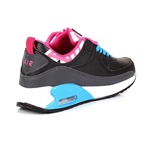 Mujer Sintético De Black Generic Material Zapatillas Blue amp; Para Grey Running qxZYOFYB