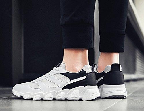 slip uomo morbido bianco scarpe scarpe in traspirante marchio estive estate on confortevole Bebete5858 vera mesh da casual pelle moda scarpe uomo wxUWTqR