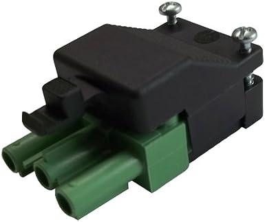 f/ür steckbare Geb/äudeinstallation ST18//3S C1 ZEV SW RD unmontiert inkl Stecker und Gegenst/ück//Anschlu/ß 3-polig Zugentlastung und Verriegelung Steckverbindung