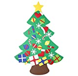 Large Felt Christmas Tree, 3.6ft Tall Hanging, Felt, with Velcro Ornaments, Ready to go!! by ZOND