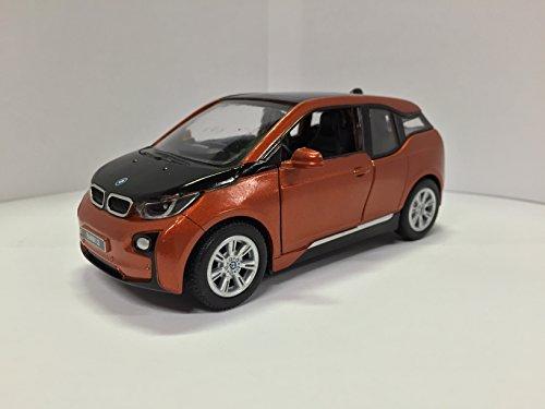 (1:32 Scale BMW i3 Electric Car Model (Solar Orange Metallic w/Frozen Grey accent))