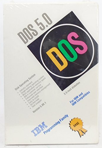DOS 5.0 Disk Operating System - 3.5-INCH DISKETTES - NOT CD-ROM - 3.5-INCH DISKETTES - NOT CD ROM - IBM PROGRAMMING FAMILY by IBM