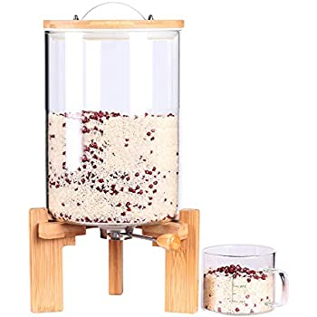 Amazon Com Glass Dry Food Dispenser Glass Food Storage