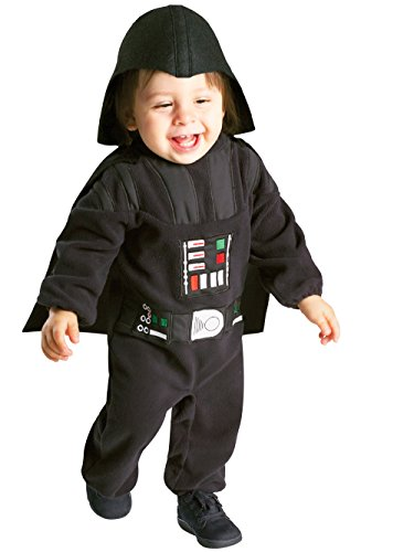 Star Wars Rubie's Darth Vader Romper, Black, 12-24 -