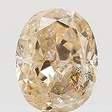 Narshiha Natural Loose Diamond Oval Orange Color I1 Clarity 3.60 MM 0.15 Ct N7443