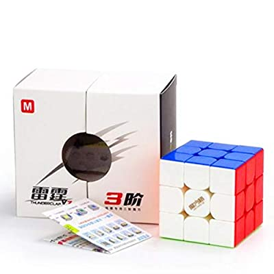 CuberSpeed Qiyi Thunderclap V3 M 3x3 stickerless Speed Cube MoFangGe Thunderclap V3 3x3x3 Magnetic Speed Cube: Toys & Games