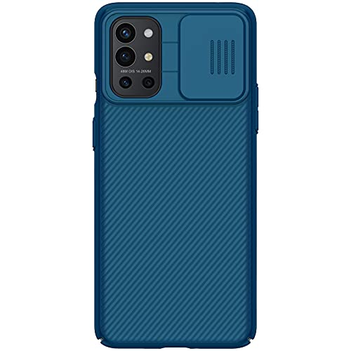 Nillkin Case for OnePlus 9R One Plus 9R (1+9) R (6.55″ Inch) CamShield Slider Camera Close & Open Case Protect Blue Color PC Finish