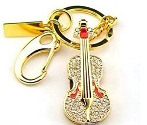 FbscTech Best Gift New Style 8GB Crystal Violin Style USB Flash Drive with Keychain USB Memory Stick