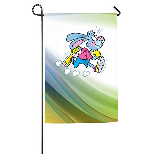 AiguanRunning Rabbit Home Family Party Flag 100 Hipster Welcomes The Banner Garden -