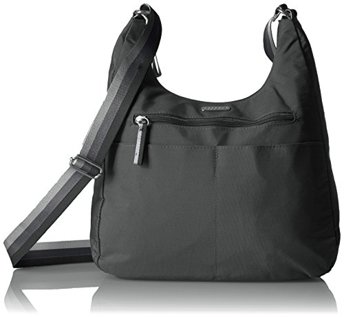 Baggallini Fine Line Hobo Black Across Body Bag