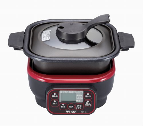 TIGER microcomputer table cooker Red CQC-G070-R