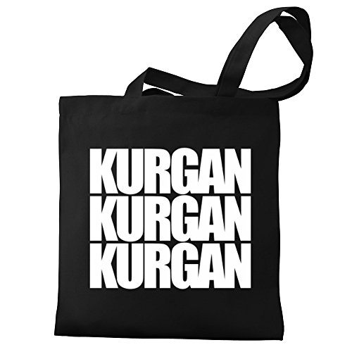 words Canvas Eddany Kurgan three Kurgan three Bag Tote Eddany XAwwzqfv
