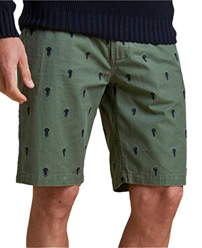 Barbour Men's Jellyfish Embroidered Shorts (Racing Green, 44) ()