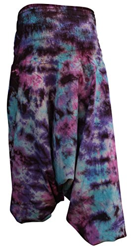 Shopoholic Fashion Pantalones coloridos teñidos hippy anchos, ajuste holgado Nuevo Tie Dye 3