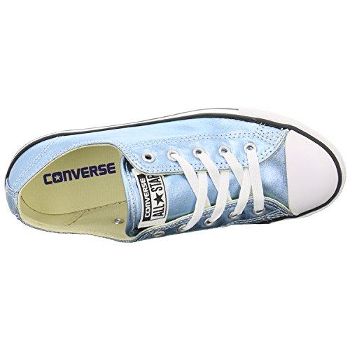 Converse Womens Chuck Taylor All Star Dainty Ox Canvas Trainers Blue Coast