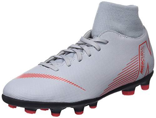 Nike Superfly 6 Club FG/MG, Zapatillas de Fútbol Unisex Adulto Gris (Wolf Grey/Lt Crimson/Black 060)