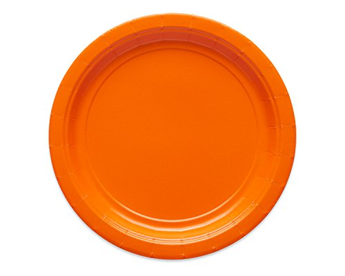 American Greetings 4513457 Solid Small Paper Plate, Orange