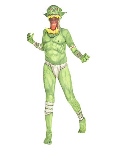 "Green Orc Jaw Dropper Kids Monster Morphsuit Fancy Dress Costume - size Medium 3""7-4""0 (108cm-122cm)"