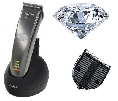 MOSER 1884-0053 Li+Pro DIAMOND BLADE Professional Cord/Cordless Hair Clipper Special Edition NEW