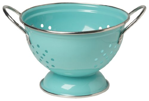 Now Designs Metal Colander, 1-Quart, Turquoise