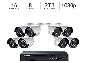 Lorex 16-Channel HD Analog DVR with 2TB HDD, 8 1080p Cameras with 130' Night Vision