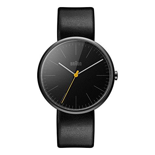 Braun BN0172BKBKG Mens Classic Slim Black Leather Strap Watch
