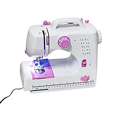 Nex LSS-505 Plus Sewing Machine with 10 Built-In Stitches Free-Arm Sew Multi-Purpose Feature-Rich Sewing Machine Crafting Mending Machine