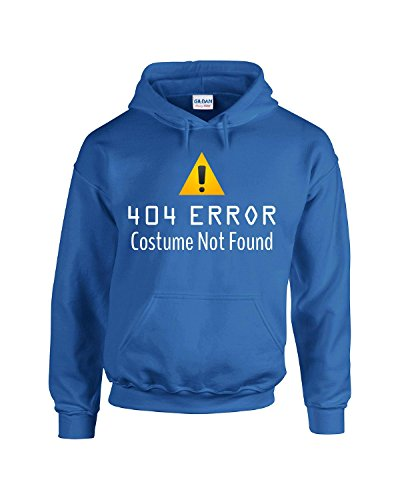 404 Error Costume Not Found Atd - Adult Hoodie L Royal