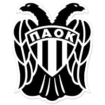 PAOK Thessaloniki - Greece Football Soccer Futbol - Car Sticker - 5""