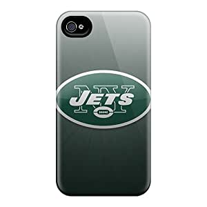 Shock-Absorbing Hard Cell-phone Case For Iphone 6 With Custom Realistic New York Jets Skin SherriFakhry