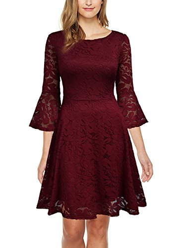 lace a line dress with sleeves - 8